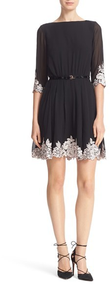 Women's Ted Baker London Feay Belted Lace Embellished Dress