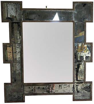 One Kings Lane Vintage Metal Framed Mirror with Antiqued Glass