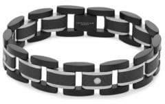 Tateossian Titanium and Carbon Fiber Link Bracelet