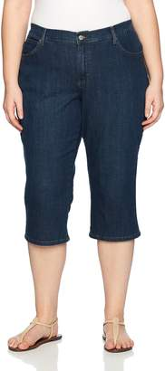 Lee Women's Plus Size Relaxed Fit Denim Capri Pant