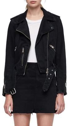 AllSaints Balfern Denim Biker Jacket
