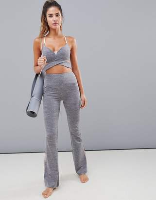 Asos 4505 gray marl yoga flare