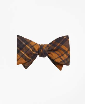 Brooks Brothers Ancient Madder Plaid Print Bow Tie