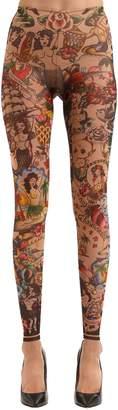 DSQUARED2 Aloha Printed Tulle Leggings