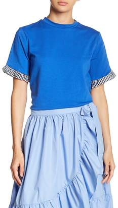ENGLISH FACTORY Ruffle Short Sleeve Shirt