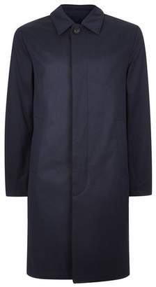 Topman Mens Navy Single Breasted Trench Coat