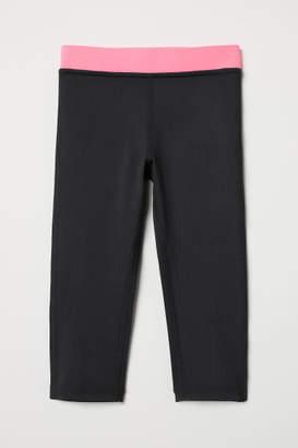 H&M 3/4-length Sports Tights - Black