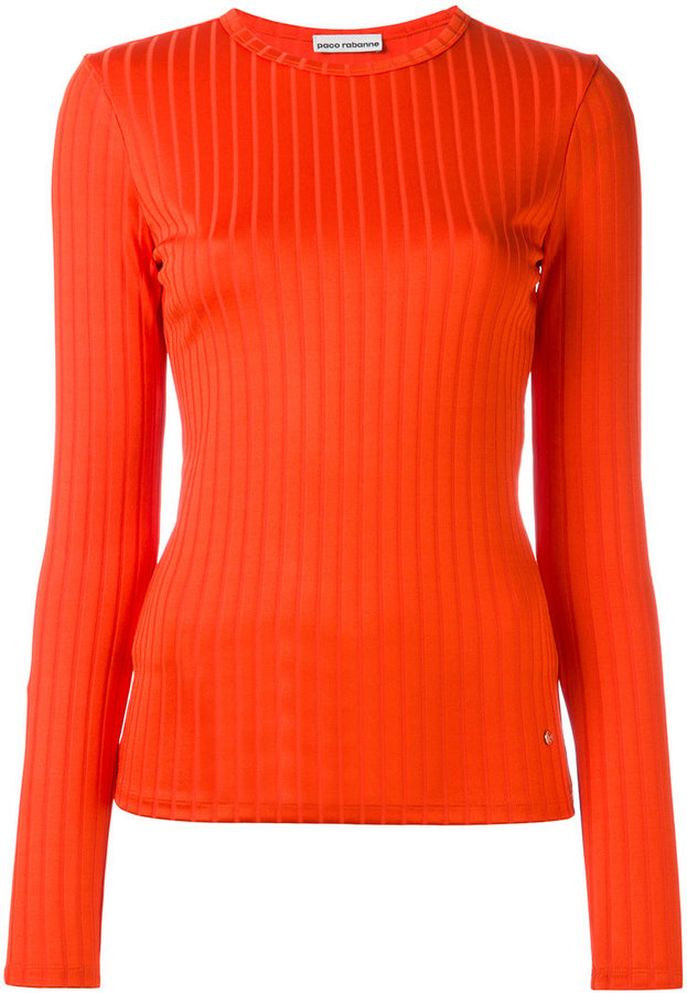 Paco Rabanne ribbed jumper