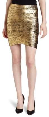 BCBGMAXAZRIA Women's Silvie Foil Print Skirt