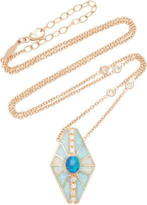 Jacquie Aiche One-Of-A-Kind Small Hexagon Opal Inlay Necklace