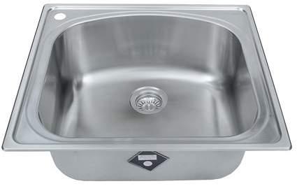 Wells Sinkware CHT2522-10L 18-Gauge Single Bowl Top-Mount Kitchen Sink, Stainless Steel