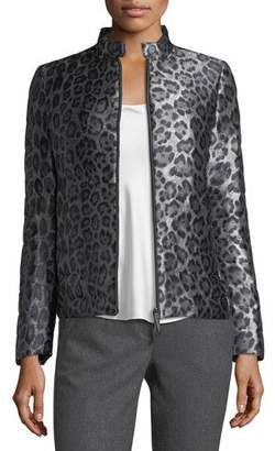 Armani Collezioni Cheetah-Print Puffer Jacket