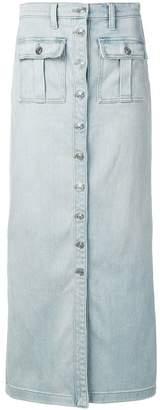 Current/Elliott buttoned maxi denim skirt