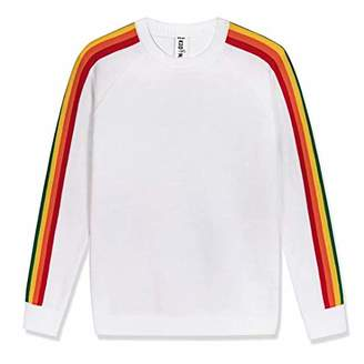 Kid Nation Kids Sweater Pullover Long Sleeve with Rainbow Stripe Size XS