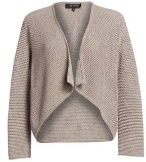 St. John Women's Brenna Knit High-Low Cardigan - Tan - Size Large