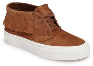 Women's Vans Chukka Moc Fringed Mid Top Sneaker $74.95 thestylecure.com