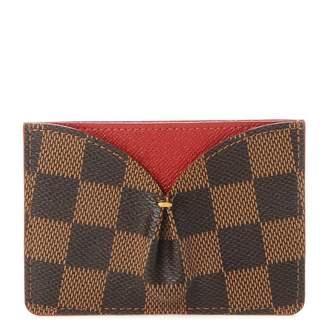 Louis Vuitton Card Holder Caissa Damier Ebene Cerise Cherry