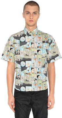 Prada James Jean Poplin Short Sleeve Shirt