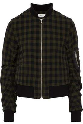 A.L.C. Checked Wool Bomber Jacket
