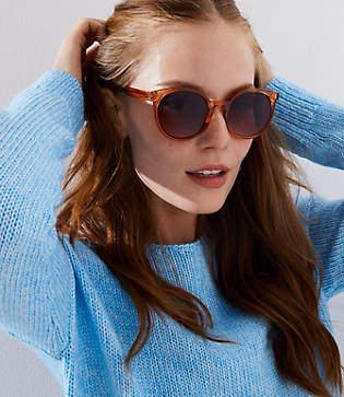 LOFT Modern Round Sunglasses