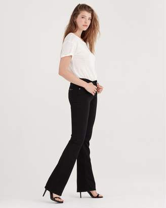 7 For All Mankind B(air) Denim Bootcut in Black
