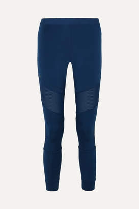 adidas by Stella McCartney Parley For The Oceans Essentials Mesh-paneled Climalite Leggings - Blue