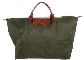Longchamp Leather-Trimmed Le Pilage Travel Bag