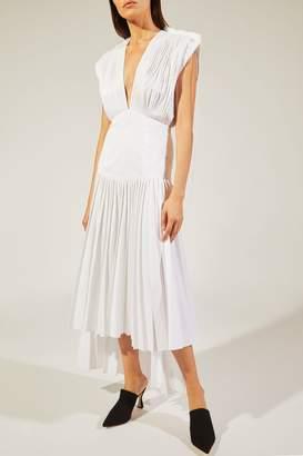 Khaite The Theodora Dress In Currant