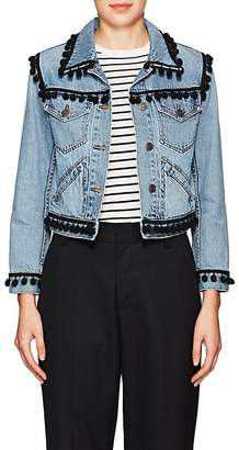 Marc Jacobs Women's Pom-Pom-Trimmed Denim Jacket