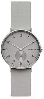 Skagen Aaren Leather-Strap Watch