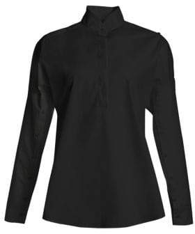 Akris Punto Buttoned Sleeve Blouse
