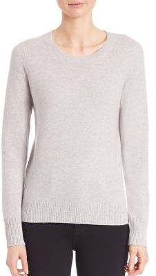 Saks Fifth Avenue COLLECTION Cashmere Long Sleeve Sweater $260 thestylecure.com