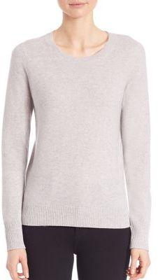 Saks Fifth Avenue Collection Cashmere Crewneck Sweater $260 thestylecure.com