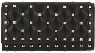 Valentino GARAVANI Wallet Rockstud Spike Wallet In Quilted Nappa Leather With Metal Studs