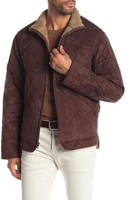 Weatherproof Quilted Faux Shearling Lined Jacket