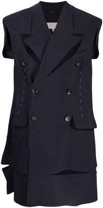 Maison Margiela formal waistcoat with cut-outs
