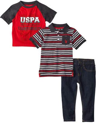 US Polo Association U.S. Polo Assn. 3Pc Denim Set