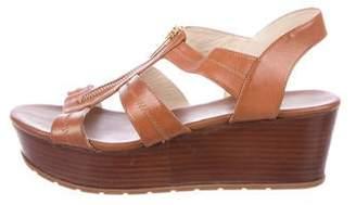 MICHAEL Michael Kors Leather Wedge Sandals