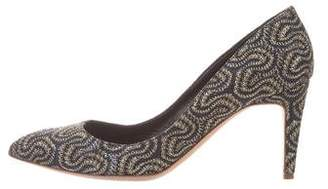 Rupert Sanderson Embroidered Pointed-Toe Pumps
