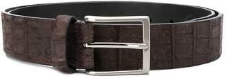 Simonnot Godard crocodile embossed belt