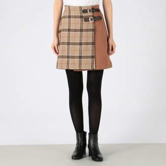 INGNI (イング) - INGNI ベルト付チェック柄台形スカート