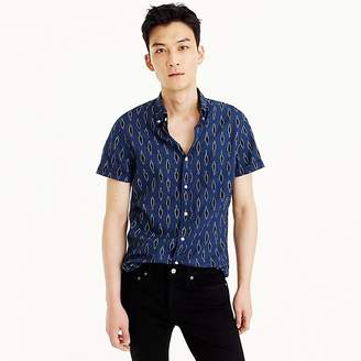 J.Crew Short-sleeve linen-cotton shirt in leaf print