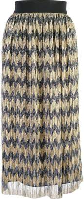 Alice + Olivia Alice+Olivia sheer patterned skirt