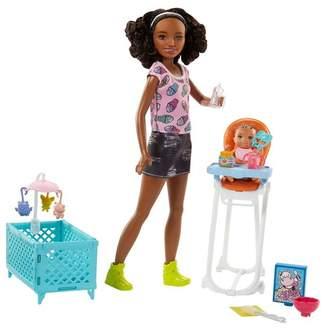 Mattel Inc. Barbie Babysitters Doll & Naptime/Feeding Playset
