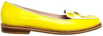 Opening Ceremony Yellow Leather Flats
