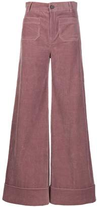 Roberto Collina high-waisted flared trousers