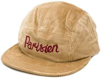 MAISON KITSUNÉ Parisien embroidered velvet cord cap
