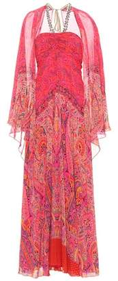 Etro Printed silk dress