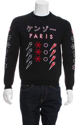 Kenzo Embroidered Crew Neck Sweatshirt w/ Tags