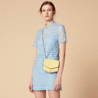 Sandro Short-sleeved all-over lace dress